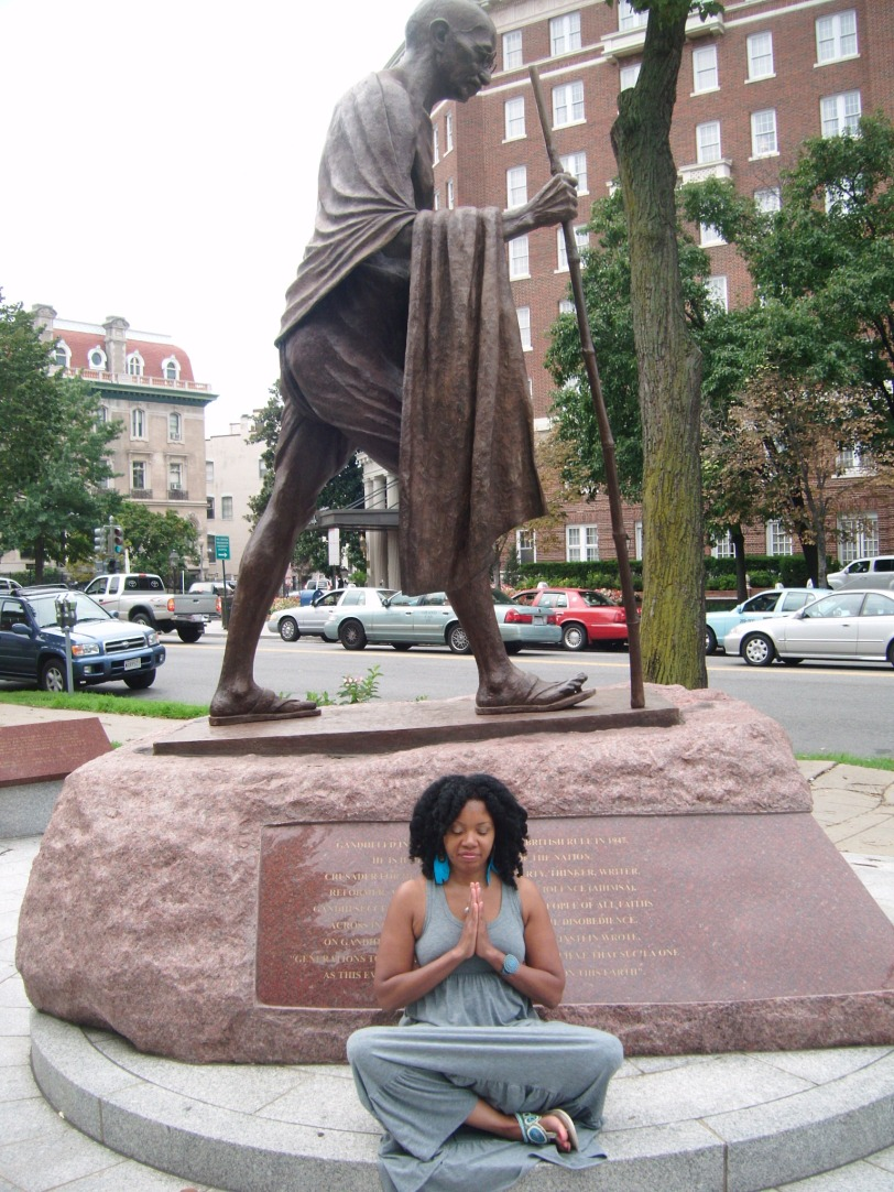 DC meditating w Ghandi