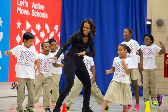 Michelle with kids